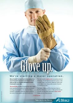 This guy looks familiar. Mercy Hospital ground breaking print ad