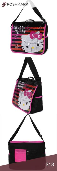 Hello Kitty Messenger Bag Brand New Hello Kitty Messenger Bag... great size... perfect for school or sleep overs Free Gift with purchase See Pic Hello Kitty Bags Backpacks