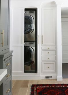 Include Space For Washer And Dryer In Closet Wall In Bedroom (if Water  Pipes Allow