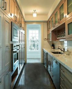 Luxury Galley Kitchen- wowzers