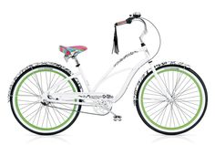 "Electra bike ""blanc et noir""   just need to add a pink basket, that's how I roll!"