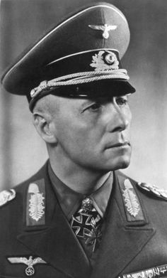 """Generalfeldmarschall Erwin Rommel.  Known by friend and foe alike as """"The Desert Fox,"""" for his uncanny ability to strike and move his Afrika Corps troops with blitz-like speed, he also is one of the very few Nazis worthy of admiration and respect.  A hero during the war (even the Brits loved him) he eschewed cruelty, even disobeying direct orders to slaughter prisoners.  Eventually implicated in a plot to kill Hitler, he was arrested, but allowed to commit suicide, saving his family and…"""