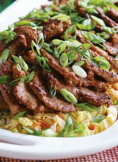 Low FODMAP Recipe and Gluten Free Recipe - Chinese-style pork fillet with fried rice  http://www.ibssano.com/low_fodmap_recipe_chinese_style-pork_fillet_fried_rice.html