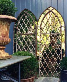 Gothic Garden Arched Diamond Design Window Mirrors arched-gothic-tall-window-mirrors-garden : Aldgate Home Ltd Arch Mirror, Window Mirror, Tall Windows, Arched Windows, India Decor, Garden Mirrors, Gothic Garden, Garden Table, Diamond Design