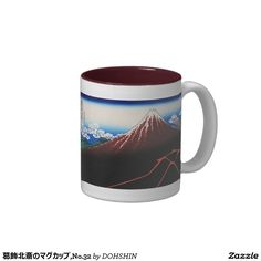 Magnetic cup of Katsushika north 斎, No.32 Two-Tone Coffee Mug