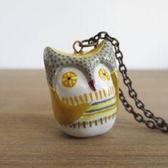 Little owl pendant necklace