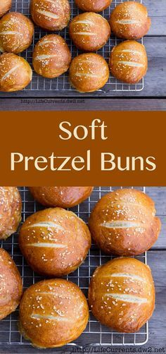 Soft Pretzel Buns are not only super delicious, but they're versatile. Eat them as fun dinner rolls with some soup or stew. Eat them as a tailgating snack while watching the game. Or, eat them as hamb(Baking Bread Soft Pretzels) Bread Recipes, Baking Recipes, Ma Baker, Pan Relleno, Bon Dessert, Soft Pretzels, Homemade Pretzels, Bread And Pastries, Dinner Rolls