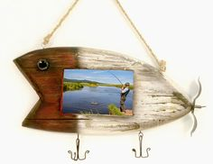 4x6 Fishing Lure Hanging Photo Frame - American Expedition