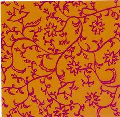 Faltpapier für Sterne Mille Fleurs orange