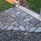 Quick Set Concrete Makes a Stone Look Walkway :: Hometalk