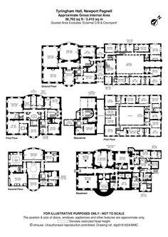 hawkstone hall floor plan - Google Search