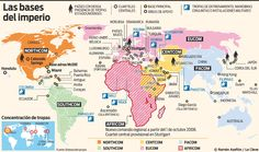 Bilderesultat for Tropas Militares Americanas y Bases alrededor del Mundo Bulgaria, Georgia, Map, Denmark, Norway, United Nations, Luxembourg, Around The Worlds, Empire