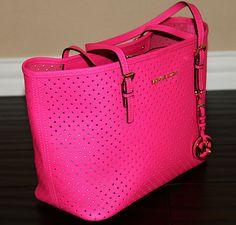 Kors pink handbag, perforated