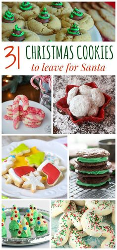 31 Christmas Cookies to Leave for Santa - the best christmas cookie recipe to add to your holiday baking list.