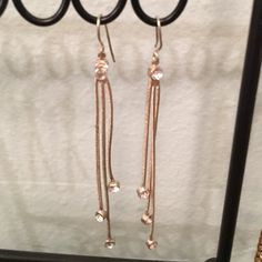 Silver rhinestone chain earrings Vintage were my grandmothers Jewelry Earrings
