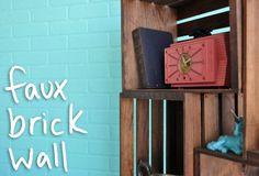 Mr. Kate | DIY faux brick wall