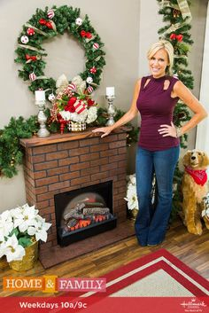 A DIY Faux Fireplace is the perfect addition to keep your home feeling cozy! For more festive DIYs, tune in to Home & Family weekdays at 10a/9c on Hallmark Channel!