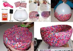 DIY Confetti Bowl for You to Try!  - http://www.amazinginteriordesign.com/diy-confetti-bowl-for-you-to-try/
