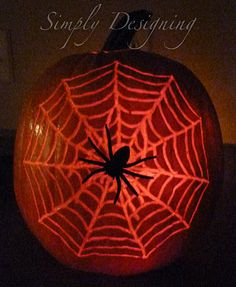 Simply Designing with Ashley: Pumpkin Carving with a DREMEL Halloween This Year, Holidays Halloween, Halloween Treats, Fall Treats, Happy Halloween, Halloween Party, Pumpkin Uses, Pumpkin Jack, Spider Pumpkin