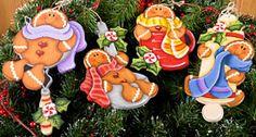 Gingerbread Bakers Ornaments set of 4