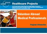 Volunteer in an AIDS clinic in Africa