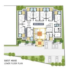 "365 Likes, 1 Comments - @idedenahrumah on Instagram: ""  GUEST HOUSE - LOWER FLOOR PLAN   . . #denah #arsitek #idedesain #architect #floorplan…"""