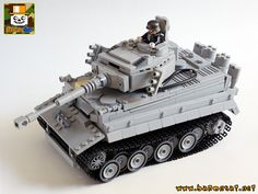 """Lego Custom Tiger Tank"" by baronsat: Pimped from Flickr"