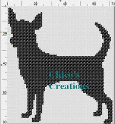 Chihuahua Silhouette Cross Stitch Pattern A087
