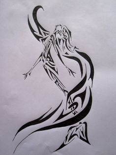 Tribal mermaid by Sofeye.deviantart.com on @deviantART