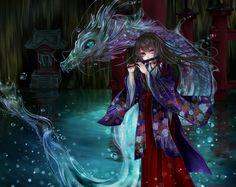 Japanese Water Anime Dragon Girl__ Mitsuki963 Anime girl