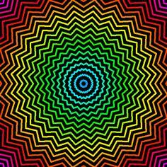Random Original Junk and stuff. Optical Illusion Gif, Cool Optical Illusions, Art Optical, Illusion Art, Rainbow Wallpaper, Galaxy Wallpaper, Eye Tricks, Psychadelic Art, Trippy Gif