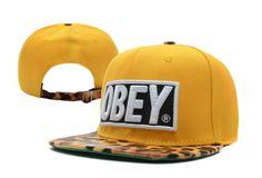 Obey Leopard Strapback Yellow_11369