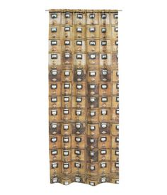 Card Catalog Curtain Panel -- Click through for purchasing information from H&M US.
