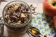 Pohánka s makom a jabĺčkom - Recept Quinoa, Food And Drink, Pudding, Sugar, Sweet, Fitness, Desserts, Recipes, Candy