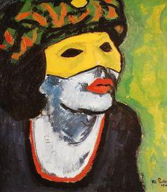The Masked Woman - Max Pechstein