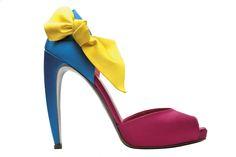 "Yellow bow stiletto [goes with: ""Soda Fountain""]"