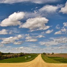 North Dakota country roads.  My Grans lived here~to isolated for me~and very barren