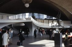 New York New York  - 1965 - Inside TWA Terminal JF Kennedy International Airport, Queens, New York
