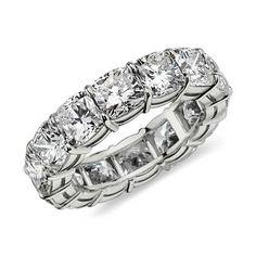 Cushion Eternity Diamond Ring in Platinum (8 ct. tw.) #BlueNile #Sparkle #Hollywood #Oscars #GoldenGlobes #Diamonds #FineJewelry #Jewelry #Fashion