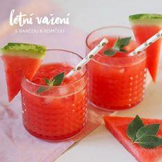 Domácí melounová limonáda Healthy Drinks, Cantaloupe, Smoothies, Food And Drink, Strawberry, Yummy Food, Fruit, Syrup, Smoothie