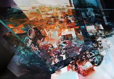 Narrative Dramas Unfold in Robert Prochs Multi-Dimensional Glitched Paintings and Murals