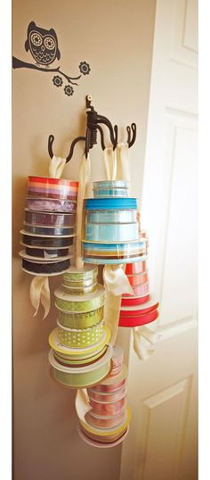 Another interesting idea for storing ribbon