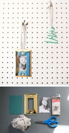Wall Plate Photo DIY Ornament | HelloNatural.co
