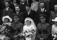 Seán MacEoin's wedding, 1922 - Arthur Griffith and Michael Collins behind groom and bride. Ireland 1916, Irish Republican Army, History Posters, Michael Collins, Irish Culture, Abandoned Places, Current Events, Glasgow, Dublin