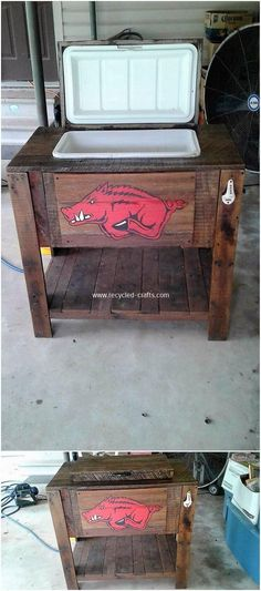 Imaginative DIY Ideas for Reusing Old Wooden Pallets: If you already have some old wood pallets in your house and you have been thinking about to throw it away then you are probably making. Wooden Pallet Projects, Wooden Pallet Furniture, Woodworking Furniture, Woodworking Projects, Furniture Ideas, House Furniture, Pallet Ideas, Old Pallets, Recycled Pallets