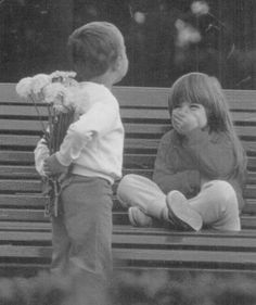 He has a little surprise for her. Circa 1960s. - Imgur