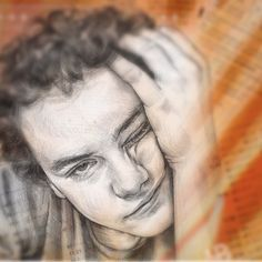 . . . School Stress ;) Pencil drawing | mixed media by HB✎ School Stress, Pencil Drawings, Mixed Media, Black And White, Portrait, Illustration, Color, Art, Drawings In Pencil