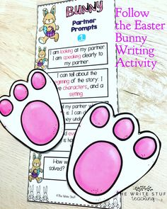 FUN Easter writing set with stations to guide kids through the writing process. #easterwriting #easteractivities