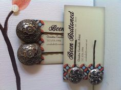 Hair accessories made from vintage buttons