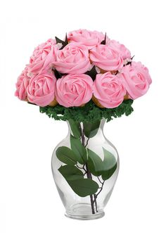 Pink Roses Cupcake Bouquet